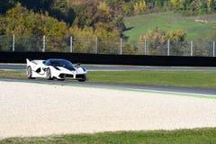MUGELLO, ITALY - OCTOBER 26, 2017: Ferrari FXX-K during Finali Mondiali Ferrrari 2017 - XX Programmes in Mugello Circuit Royalty Free Stock Photography