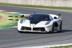 MUGELLO, ITALY - OCTOBER 26, 2017: Ferrari FXX-K during Finali Mondiali Ferrrari 2017 - XX Programmes in Mugello Circuit Stock Photos