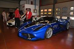 MUGELLO, ITALY - OCTOBER 26, 2017: Ferrari FXX-K during Finali Mondiali Ferrrari 2017 - XX Programmes in Mugello Circuit Stock Image