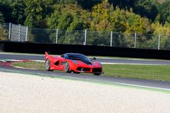 MUGELLO, ITALY - OCTOBER 26, 2017: Ferrari FXX-K during Finali Mondiali Ferrrari 2017 - XX Programmes in Mugello Circuit Royalty Free Stock Image