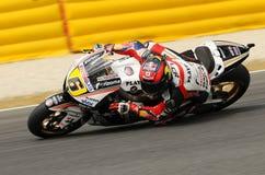 MUGELLO - 13 JUILLET : Stefan Bradle d'équipe de tension résiduelle Honda emballe à la session de qualification du généraliste Gr Photos stock