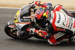 MUGELLO - 13 JUILLET : Stefan Bradle d'équipe de tension résiduelle Honda emballe à la session de qualification du généraliste Gr Photo stock