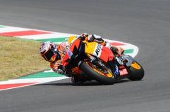 MUGELLO - 13 JULI: Casey Stoner van het teamrassen van Repsol Honda bij Kwalificerende Zitting van GP Grand Prix van Moto van Ita Royalty-vrije Stock Fotografie