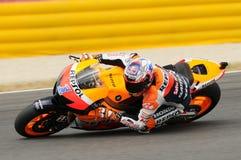 MUGELLO - 13 JULI: Casey Stoner van het teamrassen van Repsol Honda bij Kwalificerende Zitting van GP Grand Prix van Moto van Ita Royalty-vrije Stock Afbeelding