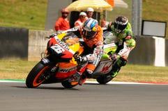 MUGELLO - 13 JULI: Daniel Pedrosa van het teamrassen van Repsol Honda bij Kwalificerende Zitting van GP Grand Prix van Moto van I Royalty-vrije Stock Afbeelding