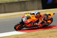 MUGELLO - 13 JULI: Daniel Pedrosa van het teamrassen van Repsol Honda bij Kwalificerende Zitting van GP Grand Prix van Moto van I Royalty-vrije Stock Foto's