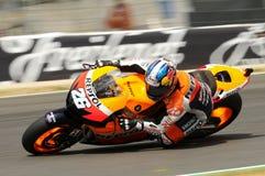MUGELLO - 13 JULI: Daniel Pedrosa van het teamrassen van Repsol Honda bij Kwalificerende Zitting van GP Grand Prix van Moto van I Royalty-vrije Stock Foto