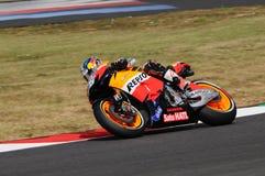 MUGELLO - 13 JULI: Daniel Pedrosa van het teamrassen van Repsol Honda bij Kwalificerende Zitting van GP Grand Prix van Moto van I Royalty-vrije Stock Fotografie