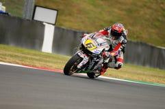 MUGELLO - 13 JULI: Stefan Bradle van het teamrassen van LCR Honda bij Kwalificerende Zitting van GP Grand Prix van Moto van Itali Royalty-vrije Stock Foto's