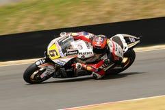 MUGELLO - 13. JULI: Stefan Bradle von Dauerbetrieb-Restbild Honda Team läuft an qualifizierender Sitzung von Moto GP Grandprix vo Lizenzfreie Stockbilder