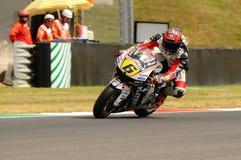 MUGELLO - 13. JULI: Stefan Bradle von Dauerbetrieb-Restbild Honda Team läuft an qualifizierender Sitzung von Moto GP Grandprix vo Lizenzfreie Stockfotos