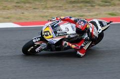 MUGELLO - 13. JULI: Stefan Bradle von Dauerbetrieb-Restbild Honda Team läuft an qualifizierender Sitzung von Moto GP Grandprix vo Lizenzfreie Stockfotografie