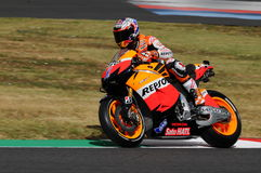 MUGELLO - JULY 13: Casey Stoner of Repsol Honda team races at Qualifying Session of Moto GP Grand Prix of Italy on July 13, 2012 Stock Image