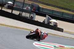 MUGELLO - JULY 13: Daniel Pedrosa of Repsol Honda team races at Qualifying Session of Moto GP Grand Prix of Italy Royalty Free Stock Photos