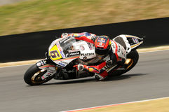 MUGELLO - JULY 13: Stefan Bradle of LCR Honda team races at Qualifying Session of Moto GP Grand Prix of Italy Royalty Free Stock Images