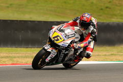 MUGELLO - JULY 13: Stefan Bradle of LCR Honda team races at Qualifying Session of Moto GP Grand Prix of Italy Stock Images