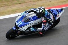 MUGELLO kring - 13 JULI: Ben Spies Yamaha die bij Kwalificerende Zitting van MotoGP-Grand Prix van Italië, op 13 Juli, 2012 renne Stock Fotografie