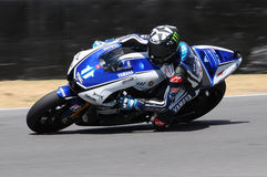 MUGELLO kring - 13 JULI: Ben Spies Yamaha die bij Kwalificerende Zitting van MotoGP-Grand Prix van Italië, op 13 Juli, 2012 renne Royalty-vrije Stock Foto