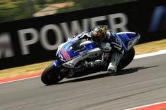 MUGELLO kring - 13 JULI: Jorge Lorenzo van Yamaha-Team tijdens Kwalificerende Zitting van MotoGP-Grand Prix van Italië Stock Afbeeldingen