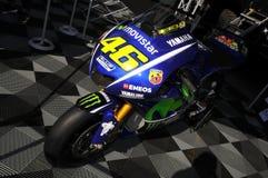 Mugello - l'Italie, le 1er juin : Yamaha M1 MotoGP dans le pré au généraliste 2017 de TIM de l'Italie le 1er juin 2017 Images libres de droits