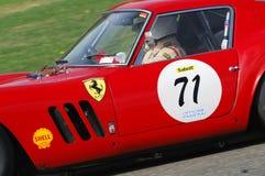 MUGELLO, IT, Listopad, 2007: Nieznane biega z starym 1962 Ferrari 250 GTO przy Mugello obwodem w Italy podczas Finali Mondiali Fe Obraz Stock