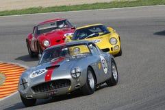 MUGELLO, IT, Listopad, 2007: Nieznane biega z starymi 1960s Ferrari 250 przy Mugello obwodem w Italy Obraz Royalty Free