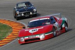 MUGELLO IT, November, 2007 okändakörning med gammal Ferrari BB 512 på den Mugello strömkretsen i Italien under Finali Mondiali Fe Fotografering för Bildbyråer