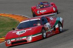 MUGELLO IT, November, 2007 okändakörning med gammal Ferrari BB 512 på den Mugello strömkretsen i Italien under Finali Mondiali Fe Royaltyfria Bilder