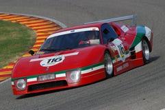 MUGELLO IT, November, 2007 okändakörning med gammal Ferrari BB 512 på den Mugello strömkretsen i Italien under Finali Mondiali Fe Royaltyfri Bild