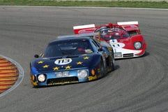 MUGELLO IT, November, 2007 okändakörning med gammal Ferrari BB 512 på den Mugello strömkretsen i Italien under Finali Mondiali Fe Arkivbild