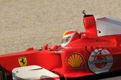 MUGELLO, IT, November, 2013: onbekende looppas met Ferrari F1 tijdens Finali Mondiali Ferrari 2013 in de mugellokring Stock Foto