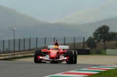 MUGELLO, IT, November, 2013: onbekende looppas met Ferrari F1 tijdens Finali Mondiali Ferrari 2013 in de mugellokring in Italië Royalty-vrije Stock Afbeelding