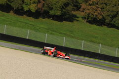 MUGELLO, IT, November, 2013: onbekende looppas met Ferrari F1 tijdens Finali Mondiali Ferrari 2013 in de mugellokring in Italië Royalty-vrije Stock Afbeeldingen