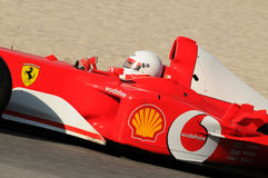 MUGELLO, IT, November, 2013: onbekende looppas met Ferrari F1 tijdens Finali Mondiali Ferrari 2013 in de mugellokring in Italië Royalty-vrije Stock Foto