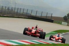 MUGELLO, IT, November, 2013: unknown run with Ferrari F1 during Finali Mondiali Ferrari 2013 into the mugello circuit in italy Royalty Free Stock Image