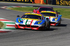 MUGELLO, IT, November, 2015:unknown run with Ferrari 488 Turbo Royalty Free Stock Images
