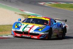 MUGELLO, IT, November, 2015:unknown run with Ferrari 488 Turbo Royalty Free Stock Image