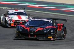 Mugello obwód Włochy, Lipiec, - 17, 2016: Ferrari 488 GT3 Blackbull Swisse drużyna, jadących Mirko Venturi i Stefano Gai Fotografia Royalty Free