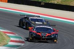 Mugello obwód Włochy, Lipiec, - 17, 2016: Ferrari 488 GT3 Blackbull Swisse drużyna, jadących Mirko Venturi i Stefano Gai Zdjęcie Stock