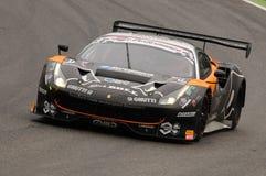 Mugello obwód Włochy, Lipiec, - 17, 2016: Ferrari 488 GT3 Super Drużynowego Czarnego byka Szwajcarski Ścigać się GT3, jadących Ga Zdjęcia Stock