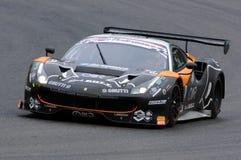 Mugello obwód Włochy, Lipiec, - 17, 2016: Ferrari 488 GT3 Super Drużynowego Czarnego byka Szwajcarski Ścigać się GT3, jadących Ga Obrazy Royalty Free