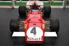 MUGELLO, IT, Oktober, 2017: Uitstekende Ferrari F1 312 B 1970 van Clay Regazzoni en Jacky Ickx bij Paddock toon van Ferrari-Verja Royalty-vrije Stock Foto's