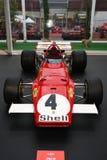 MUGELLO, IT, Oktober, 2017: Uitstekende Ferrari F1 312 B 1970 van Clay Regazzoni en Jacky Ickx bij Paddock toon van Ferrari-Verja Stock Afbeelding