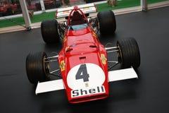 MUGELLO, IT, Oktober, 2017: Uitstekende Ferrari F1 312 B 1970 van Clay Regazzoni en Jacky Ickx bij Paddock toon van Ferrari-Verja Stock Foto's