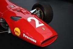 MUGELLO, IT, Oktober, 2017: Uitstekende Ferrari F1 312 1967 van Lorenzo Bandini en Chris Amon bij Paddock toon van Ferrari-Verjaa Stock Foto's
