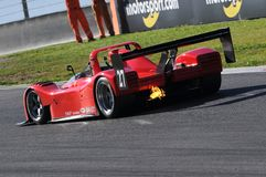 MUGELLO, service informatique, novembre 2015, inconnu fonctionnent avec Ferrari 333SP Images libres de droits