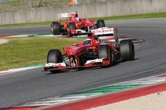 MUGELLO-STRÖMKRETS, ITALIEN - OKTOBER: Kimi Raikkonen av Scuderia Ferrari F1 Fotografering för Bildbyråer