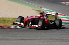 MUGELLO-STRÖMKRETS, ITALIEN - OKTOBER: Kimi Raikkonen av Scuderia Ferrari F1 Arkivfoto