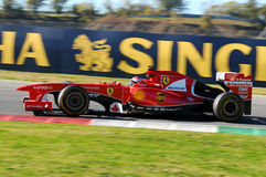 MUGELLO-STRÖMKRETS, ITALIEN - OKTOBER: Kimi Raikkonen av Scuderia Ferrari F1 Royaltyfri Bild