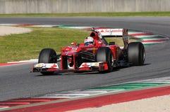 MUGELLO-STRÖMKRETS, ITALIEN - OKTOBER: Sebastian Vettel av Scuderia Ferrari F1 fotografering för bildbyråer